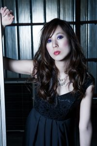 作品撮り・黒いドレス