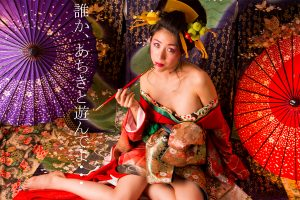 Recruiting overseas model in the Japanese kimono photography.