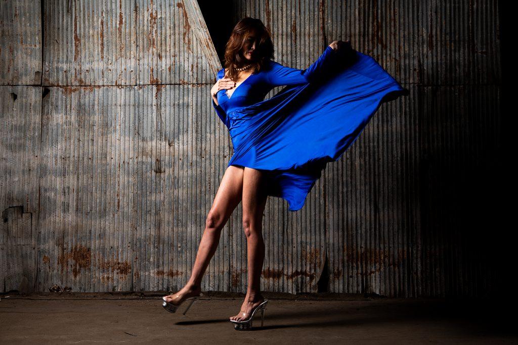 作品撮り - 青いドレス
