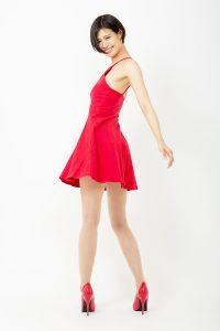 作品撮り - 赤いドレス